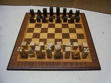 schönes Schachbrett Schachspiel Holz Handarbeit Intarsien aus Lehrwerkstatt