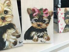 Yorkie Puppy Printed & Hand Painted From Original Painting