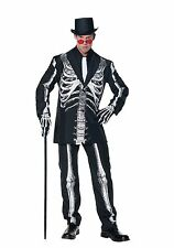 Underwraps Bone Daddy Cosplay Skeleton Suit Halloween Creepy XXL Costume  28390