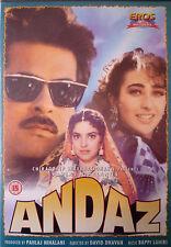 ANDAZ - EROS BOLLYWOOD DVD - Anil Kapoor, Juhi Chawla, Karishma Kapoor.