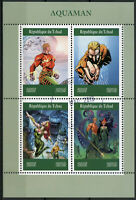 Chad 2019 CTO Aquaman 4v M/S DC Comics Superheroes Stamps