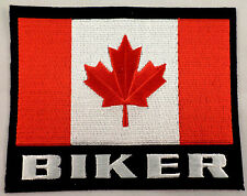 Canada Canadian Biker Flag Xl Lg Large Motorcycle Uniform Patch