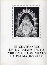 España III Centenario Bajada Virgen de La Palma año 1980 (DN-928)