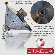 DIAMOND PROFILE WHEEL Bit Bevel E40 Grinder Wet Polisher Granite Concrete