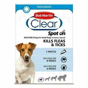 Bob Martin Clear Spot On Flea Treatment Small Dogs Kills Fleas Ticks Free Post