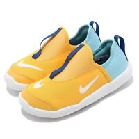 Nike Lil Swoosh TD Yellow Blue Toddler Infant Baby Slip On Shoes AQ3113-700