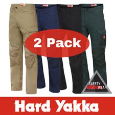 2x NEW Hard Yakka Legends Work Pants Y02202 ALL SIZES Navy Khaki Black Green