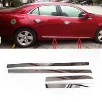 Stainless Steel Door Side Body Molding Trim Cover For Chevrolet Malibu 2012-2014