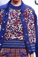 NWT $1600 MARC JACOBS COLLECTION Confetti Sequin Varsity Cardigan Knit Sweater M