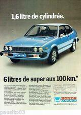 PUBLICITE ADVERTISING 126  1979   Honda  Accord L  coupé