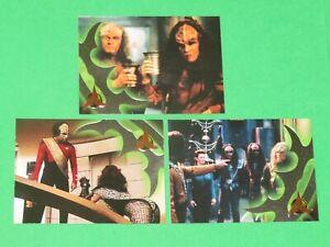 1999 Star Trek Next Generation Season 7 KLINGON INSERT 3 Card Set! S37-S39!