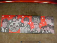 "The Beatles*Vintage 1964*Mfd By Dell*Banner Poster*19"" X 52""*B&W Group*Color Bck"