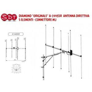 DIAMOND ORIGINALE A-144S5R2  ANTENNA DIRETTIVA 5 ELEMENTI  CONNETTORE MJ