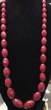 "Stunning 30"" Burmese Ruby Necklace 600 Ct Plus 40 Pcs Priced To Sell Nearly New"
