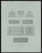 CASERNES DOUAI GRAVELINES - 1867 - GRAVURE ARCHITECTURE -