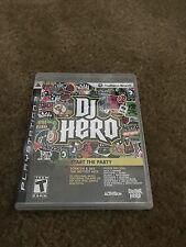 DJ Hero Start The PartyThe VideoGame Playstation 3 Case Only With Manual ps3