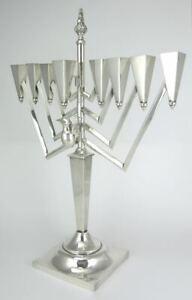 Sterling Silver Extra Large Jewish Menorah Hanukkah Candelabra 1880grms