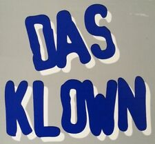 Das Klown rare 4x4 inch vinyl screen printed sticker / decal, Punk