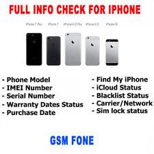 Check iPhone info imei  Carrier / Simlock / Warranty / FMI / iCloud / Blacklist