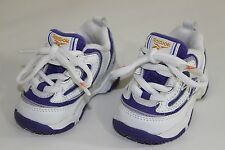 FREE SHIPPING Reebok Baby Boys Girls 2 White Purple Lace Up Athletic Shoes NEW