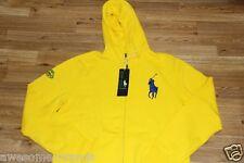 Polo Ralph Lauren men Yellow Big Pony Sweater US OPEN 2012 hoodie Large L