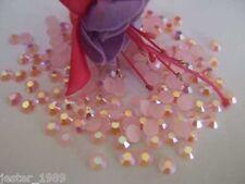 200 5mm Flat Back Acrylic Pearl Rhinestones  Baby Pink AB