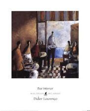 """Didier Lourenco urban European """"Bar Interior"""" art print"""