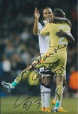 Carlo CUDICINI & Younes KABOUL Both Signed 12x8 Photo AFTAL COA Autograph Spurs