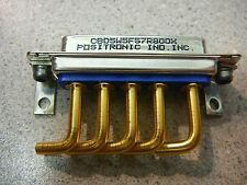 POSITRONICS Cable/Panel Mount Connector PCB Mount Right Angle Solder  1/PKG