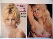 COUPURE DE PRESSE-CLIPPING : Brigitte BARDOT 25 ans de cinéma [5pages] 11/1977