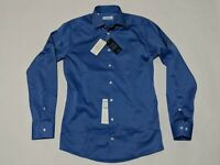 New Men's Eton Slim Fit Dress Shirt Blue 14.5 / 37 Standard Cuff Long Sleeve