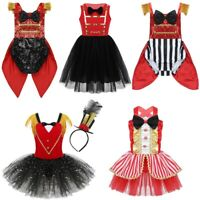 Kids Circus Ringmaster Costume Boys Girls Cosplay Outfits Fancy Dress Halloween