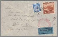 1938, Flugpost Wien-BuenosAires, Misch! (AF)