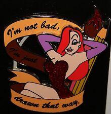 "Disney Disneyland  Jessica Rabbit ""I'm Not Bad, I'm Just Drawn That Way"" Pin"