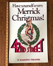 1981 42nd Street BROADWAY NY PLAY Merrick CHRISTMAS Majestic Theatre CARD POSTER