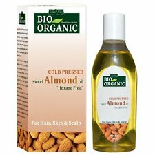 Indus Valley Bio Organic Cold Pressed Almond Oil Pure Natural-100ml Free Ship AU