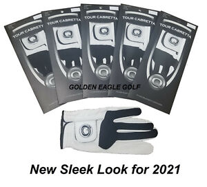 Leather Golf Glove New 5 Pack Genuine Cabretta Q Super Soft Many Sizes Available