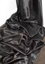 "30 METERS BLACK SATIN LINING FABRIC..58"" WIDE FULL ROLL £45 32 YARDS ON THE ROLL"