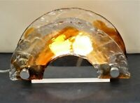 Murano Glass Table Lamp  by Mazzega  Vintage