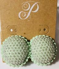 Box and Drawstring Bag Mint Pearls Plunder Design Cassandra Earrings New w/