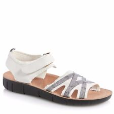 LIFE STRIDE Womens Fabric Cutout Wedge Sandals White size 10