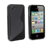 Housse Etui Coque Silicone Gel Noir S ~ Apple iPhone 4 / iPhone 4S