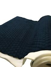 NAVY Suede Quilted Auto Headliner Headboard Fabric with 3/8