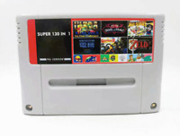 Super 130 in 1 Game 16 Bit for N SNES Multi Cart Game Cartridge NTSC-J EUR-V PAL