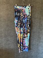 GOOD CONDITION - JOHN ZACK PATTERNED TROUSERS - SIZE 1 - BLUE