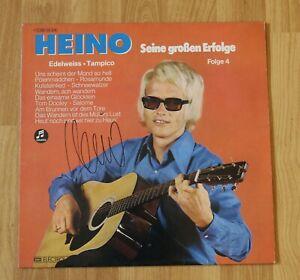 """ORIGINAL Autogramm von Heino auf VINYL 12"""". """"SEINE GROSSEN ERFOLGE: FOLGE 4""""."""