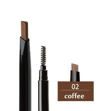 Moderate Brown Eyebrow Pencil Brush Pen Waterproof Double-ended Makeup Tool #2