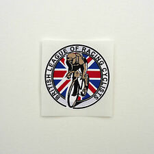 Vintage 'British League of Racing Cyclists' Frame Decal Reproduction