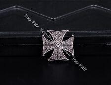 25MM 10pcs Antique Silver Punk Floral Cross Conchos Rivet Stud For Leathercraft