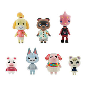 Animal Crossing New Horizons 7 piece Gift Set of Flocked Dolls Brand New Sealed